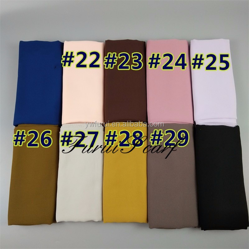 Large Size Solid Color Bubble Chiffon Nice Flower Hollow Hijab Muslim Scarves Long Shawl Spring Summer Hijab