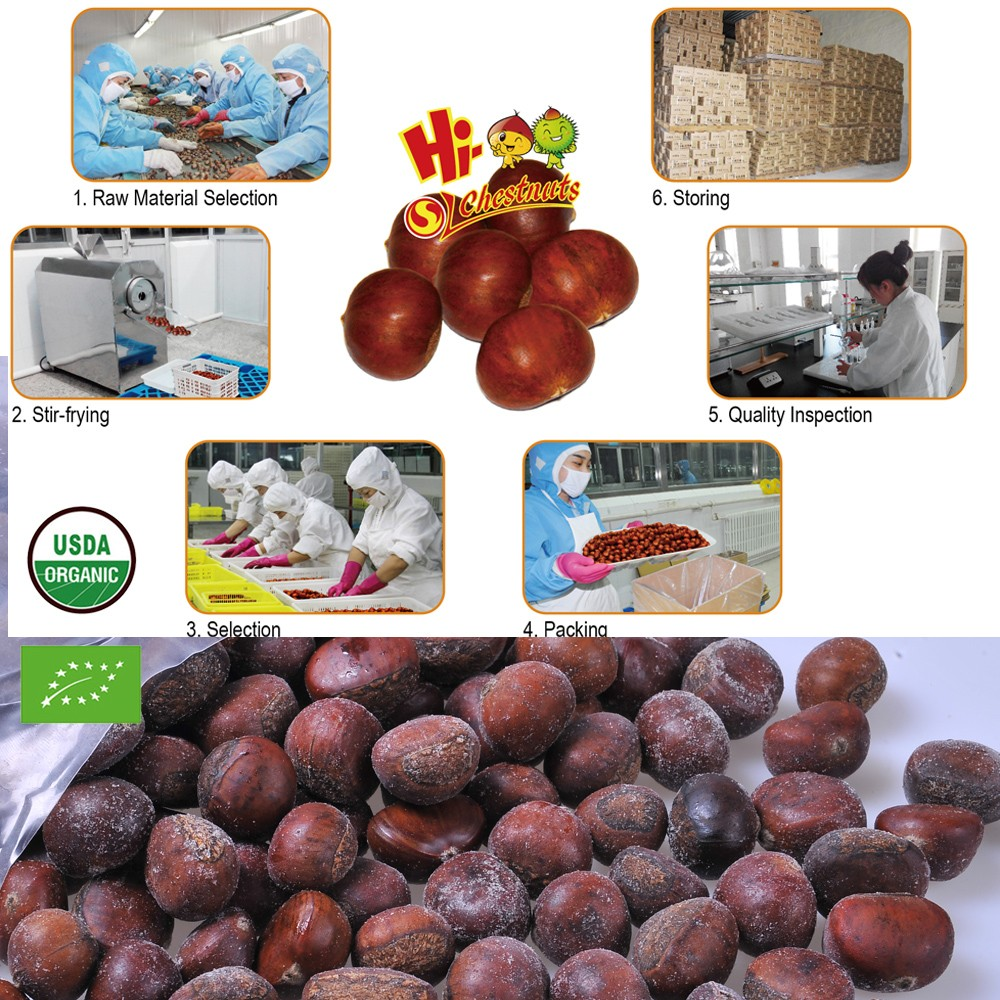 Quick Freezing organic roasted chestnuts frozen chestnut