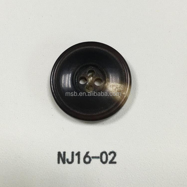 NJ16-02 real natural buffalo horn buttons
