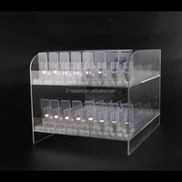 Custom Transparent Acrylic E-liquid Display Case Countertop E Juice Bottle Cabinet Electronic Cigarette Display Stand