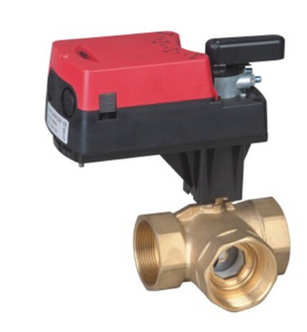 2017 hot sale Threaded 220VAC DN32 brass ball valve with electric actuator