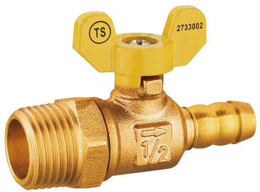 J08234 Forged Brass Gas Ball Valve, Butterfly Handle Hand, 100% Leakproof , Building Material