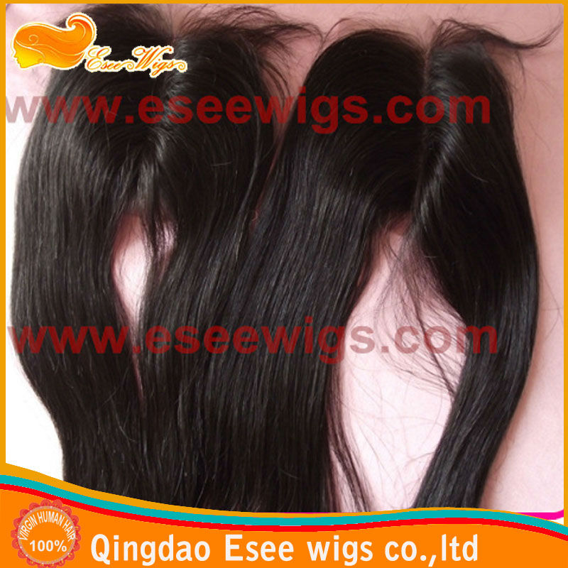 Top Quality 100% human hair closure piece with part 3.5X4inch,4X4inch,5X5inch