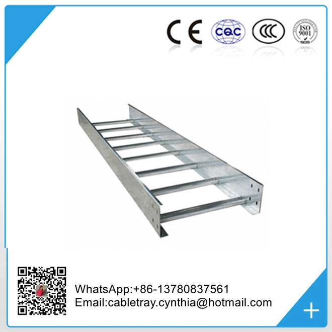 Factory direct sale hot dip galvanized steel cable Ladder hdg cable tray