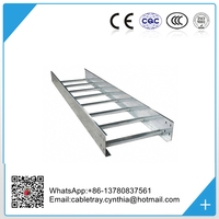 Hot dip galvanized 200*63*3000mm (W*H*L) size Ladder type steel cable tray lowest price