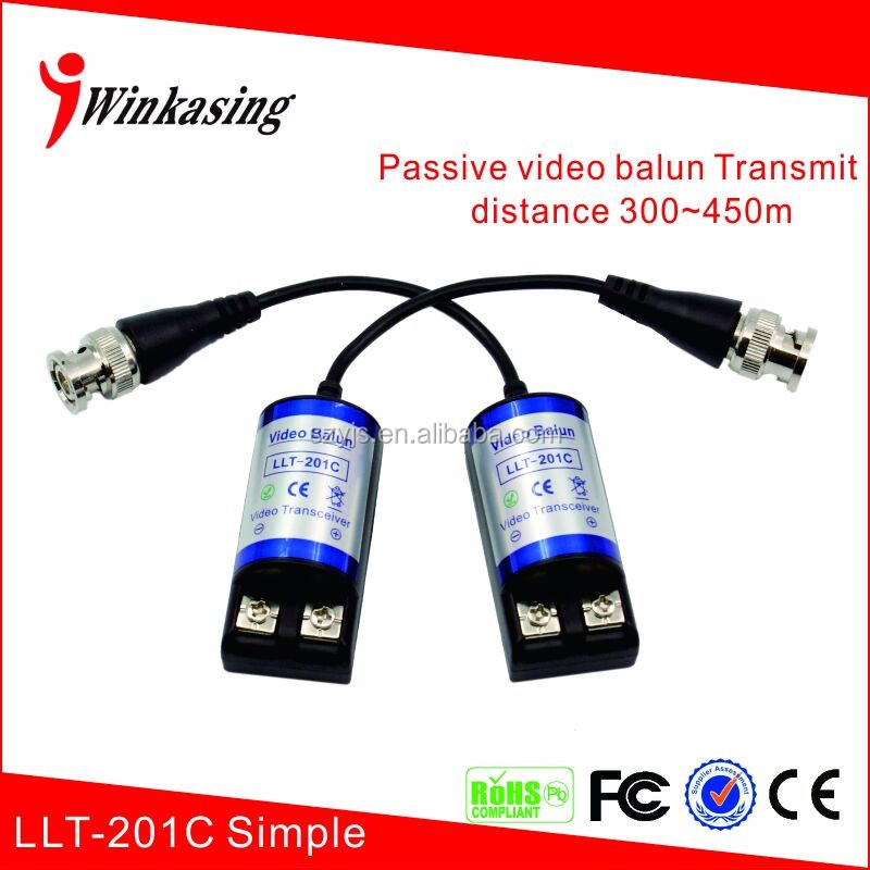 Manufacture coax to utp for cctv camera transmitter and receiver passive video balun LLT-201C (simple)