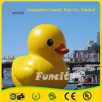 0.6mm PVC tarpaulin funny outdoor inflatable giant duck for water playing