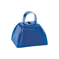 Blue Small Customized Metal Cow Bells Adevertising Cowbell for Wholesale