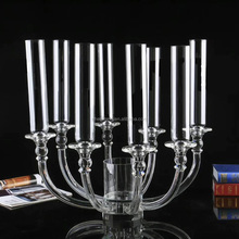 8 arms wedding crystal flower stand candelabra centerpiece for event/party table decoration
