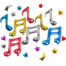 New Children's Birthday Party Colorful musical notes shaped aluminum balloon for concert/wedding party decoration