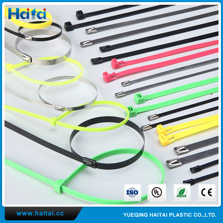 Haitai Factory Direct 100Pcs UV Protected Plastic Nylon Cable Ties Zip Wire Wrap Strap