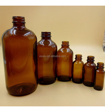 empty hot sale 60ml 120ml Amber Glass round Bottles Wholesale Boston Rounds Specialty Bottle