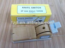 Porcelain knife switch, single throw 2P60A