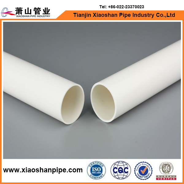 White color astm sch 40 high pressure full form pvc pipe for water supply