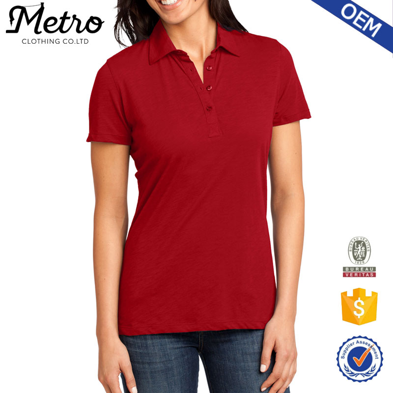 2016 new design customized OEM service wholesale polo shirts for women