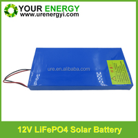 Rechargeable 12V 15Ah solar deep cycle battery with good discharge performance
