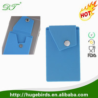 Wholesale Price Silicone Phone Card Wallet Holder Various Colors Newest Design Cell Phone Sticker Credit