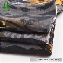 Mulinsen Textile Knit 100D DTY Soft Touch Double Sides Brush Tiger Design Printed Elastic Lycra Fabric