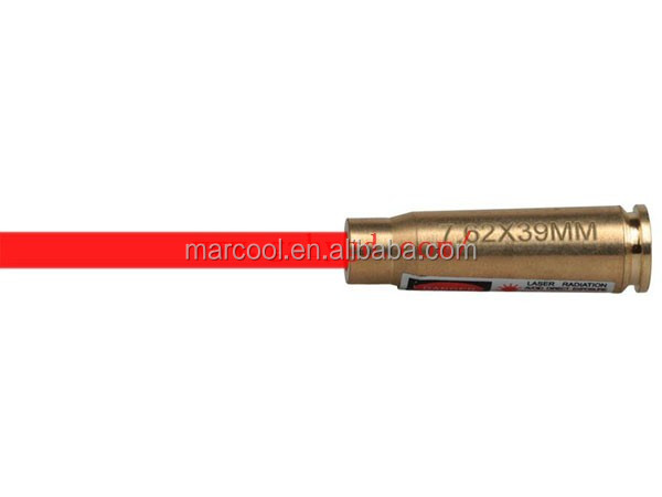 Hunting Accessory 7.62X39MM Red Laser brass Bore Sighter for riflescope