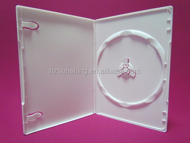 7mm slim PP single disc DVD case white
