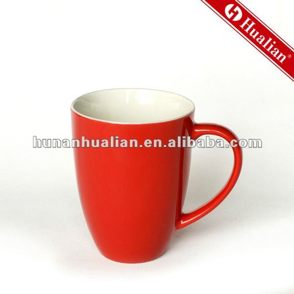 hot sale promotional ceramic gift mug red