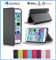 with suction cup stand PU leather cover for iphone 6 / 6S plus