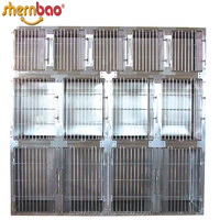 Shernbao KA-509 Pet Crate and Durable Plastic Black Tray Cage