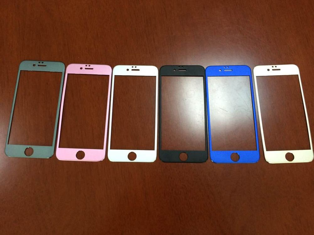 full cover a set of colorful Titanium tempered glass screen protector for IPhone 6