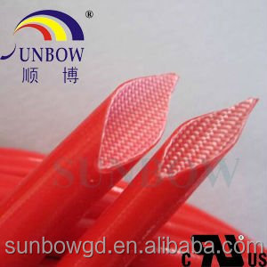 SUNBOW 4.0kv silicone rubber glass fiber insulating sleeving on the car