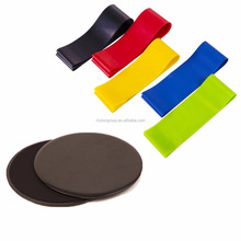 Home Dual Sided Gliding Discs Core Sliders Exercise Resistance Loop Bands