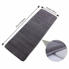 Bathroom Bath Runner Rug Long Soft Water Absorbent Memory Foam Rubber Back Anti-slip