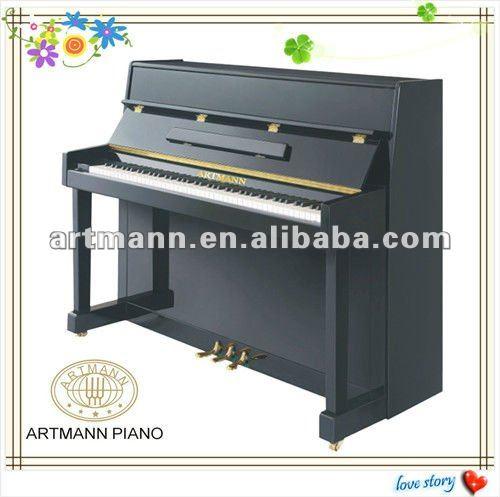 Artmann alto brilho tamanho pequeno piano vertical up110 for Small piano dimensions