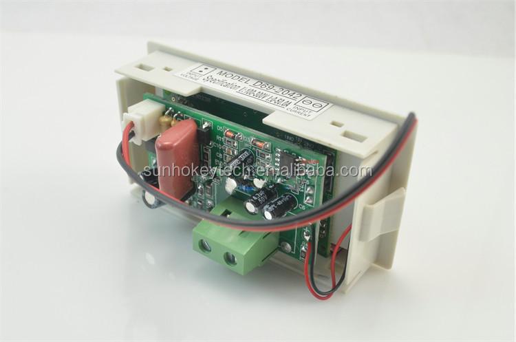 Digital Ammeter Panel Mount : Lcd digital voltage panel mount ammeter and voltmeter ac