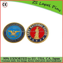 Personalized design and logo US National Guard Challenge Coin