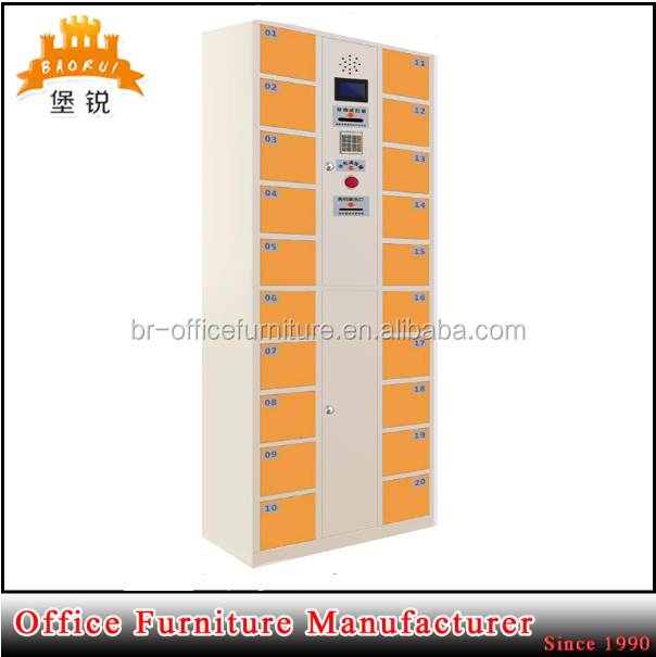 DAS-110 DAS-110 Yellow mini compartment cell phone charging station coin operated steel lockers