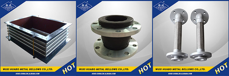 Flange pipe expansion coupling for absorbing shock