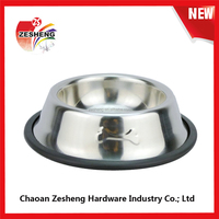 Dog bowl/ Stainless steel dog bowl/ Large breed available pet bowl size dog basin of antiskid pet tableware