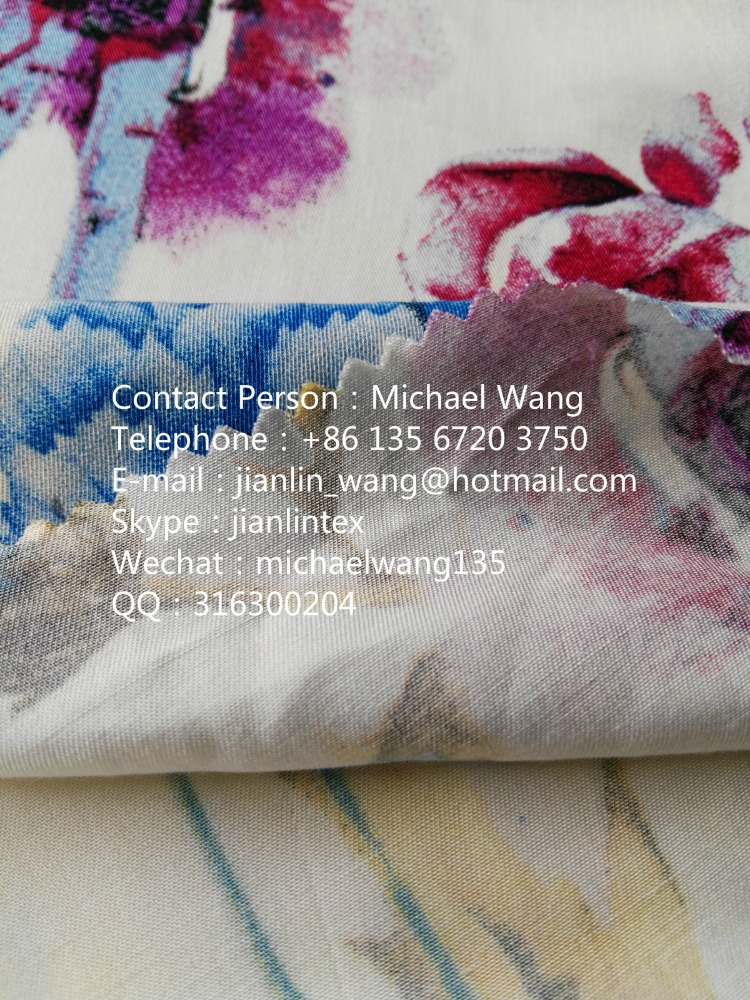 top 10 textile fabric 100%spun mercerized rayon/viscose fabric
