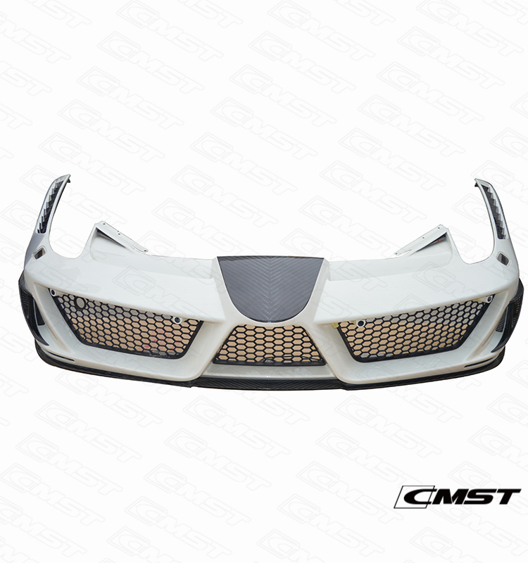 HALF CARBON FIBER FRONT BUMPER FOR FERRARI 458 ITALIA BODY KIT (CMS21-011)