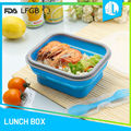 High quality cheap school portable folding silicone food box
