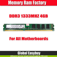 External parts of computer 4gb ddr3 pc1333 ram memory for desktop
