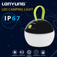 Outdoor Portable Hanging bivouac SMD2835 3w led light tent camping lamp