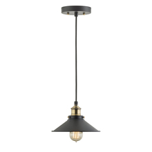 Industrial Factory Antique Brass Hanging Ceiling Light Fixture with Metal Shade
