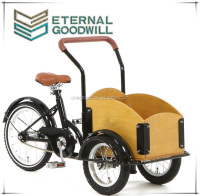 Kids tricycle cargo bike 3 wheels pocket bike single speed child cargo bikes//bakfiets/cargobike UB9035