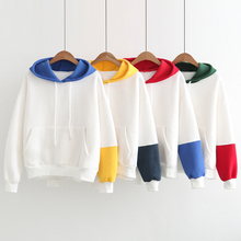 hoodie multi color fleece color block hoodies