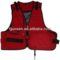 Functional outdoor fishing vest mesh for adult
