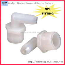 Wholesale high quality nylon and PP Plastic NPT thread pipe fittings