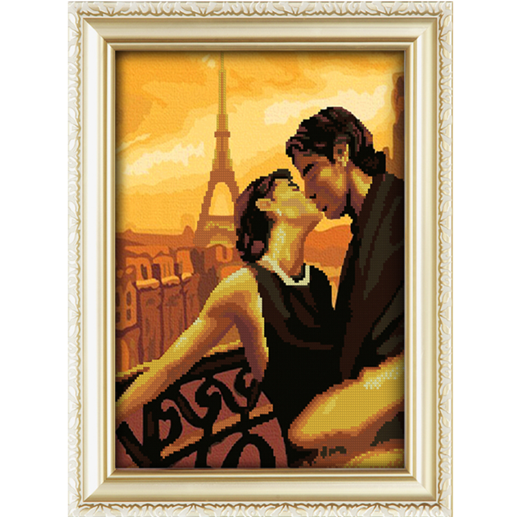 Factory Supplier Eiffel Tower Love Story Diy Crystal Diamond Painting For Home Decor