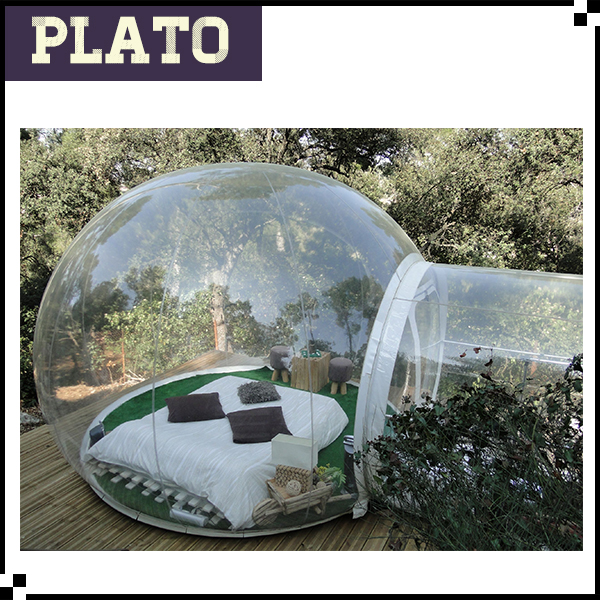 Giant transparent inflatable bubble tent/outdoor inflatable bubble hotel for sale