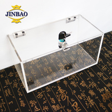 JINBAO trade assurance directly sale 4x4x4 clear acrylic storage box container